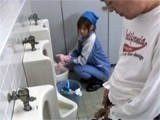 Japanese Toilet Cleaner Gets Fucked In Toilet By Stranger