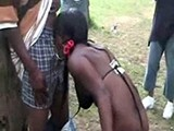 African Hooker Group Fucked In Public Park