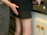 Immodest Boy Could Not Resist Grabbing GFs Mom In Kitchen