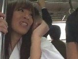 Busty Asian Girl Gangbanged and Jizzed in Public Train