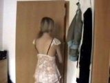 Cute Teen Should Think Twice Before She Opened That Door