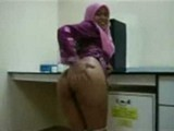 Hijab Arab Mummy Teasing her Horny Boss