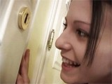 Girl fell into Trouble While Spying Through The Keyhole