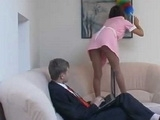 Horny Boy Grabbed Hot Maid While She Was Cleaning