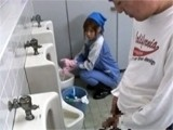 Japanese Toilet Cleaner Gets Fucked By Stranger