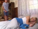 Dad Sneaks Early In The Morning Into Daughters Girlfriend Bed