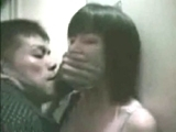 Busty Japanese Girl Forced in Public Toilet