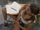 Schoolgirls Has Come On Test With New Cheating Technique She Learned Watching Prison Movies