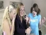 Mom Teaching Twin Sisters How To Jerk Cock