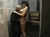 Young Busty Chick Having Sex With Old Perv Man