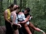 Walking Through The Woods Turns Into Teen Orgy