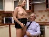 Pervert Old Man Fucks His Granddaughters Friend