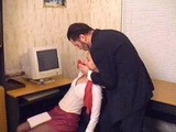 Perverted boss drugs his secretary and fucks her