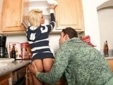 Lovely Blonde MILF Banged In The Kitchen