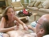 Old Daddy Fucked His Slutty Daughters Friend