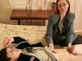 Dirty Milf Woke Up Her Sons Friend with Handjob