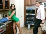 Dad Fucked His Daughter's Friend In Kitchen