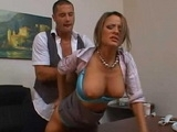 Big Boobed Secretary Fucked Doggystyle In The Office