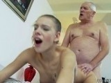 Horny Grandpa Banged His Grandson Girlfriend