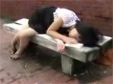 Naive Teen Falls Asleep On A Public Bench And Loses Virginity