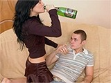 Young Sexy Teen Can NOT Stand Alcohol At All