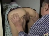 Daddy Grab Young Japanese Maid for Ass