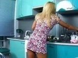 Teen Sexy Housewife Goes Wild In The Kitchen