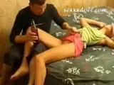 Shy Russian Teen is Too Drunk to Say No
