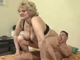 Horny Mature Woman Riding on Young Boys cock