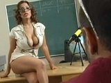 Slutty Milf Teacher Gets Pussy Licked And Fucked