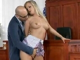 Lucky Boss Fucks His Amazing Blonde Secretary