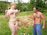 Big Boobed Girl Goes Dirty With Village Guy