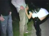 Drunk Party Girl Blows 4 Guys in Parking Lot