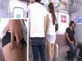 Cute Asian Teen Groped and Fucked in Public Train