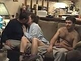 Drunk Hubby Lets His Wife Fuck All His Friends