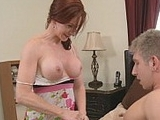 Gorgeous Milf Seduces And Fucks A Young Boy