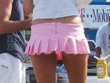 Shortest Skirt Ever will Make This Girl Famous