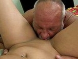 Dirty Old Man Tasted A Fresh Young Pussy