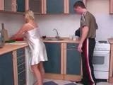 Sexy Mom Getting Banged by her Sons Best Friend in the Kitchen