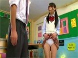 Young Japanese Teen Shows Dirty Teacher her Sexy Panties