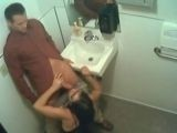 Office Bathroom BJ - BUSTED !!!