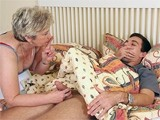 Sleeping Boy's Morning Wood Attract Attention Of GF's Mom!