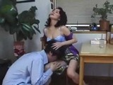 Horny Boy Attack His Aunt In The Kitchen