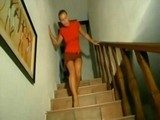 Stange Noise coming from Downstairs Scared Young Girl