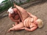 Fat Mom Fucked By Piggy Masked Guy