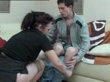 Shy Boy was unable to defend himself from Friends Horny Mom
