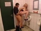 Wife caught His Hubby Fucking Slut in the Public Restroom