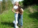 Innocent Shy Blonde Amateur Fucked In The Park