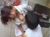 Daddy Interrupt Young Maid while Washing Dishes