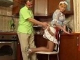 Drunk Dad Attack Our New Maid In The Kitchen